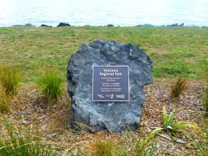 Plaque of Waitawa  official opening