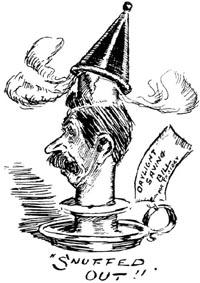 Cartoon of T.K Sidey from New Zealand Free Lance, 30 September 1911. Courtesy of www.nzhistory.net.nz