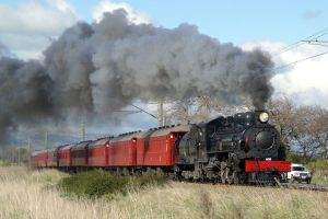 black smoke GVR train
