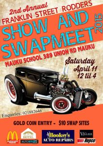 Franklin Street Rodders Show & Swap meet at Mauku 2015