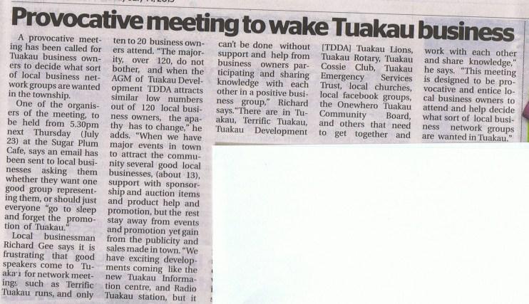 Tuakau's promotion