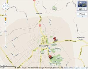 Pukekohe Paerata Map