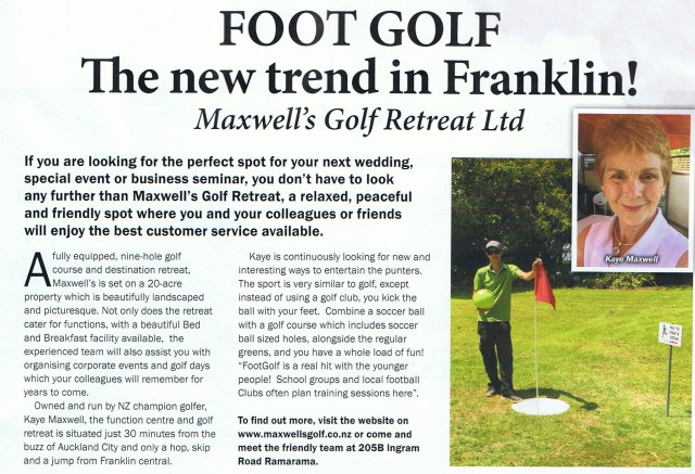 Footgolf in Franklin