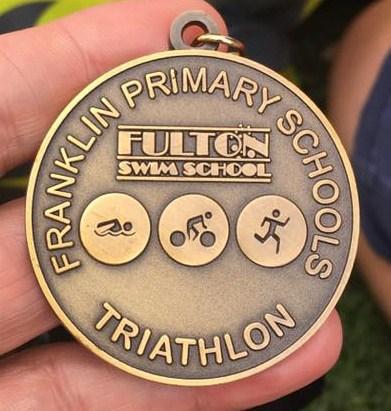 Franklin Primary Schools tri medal
