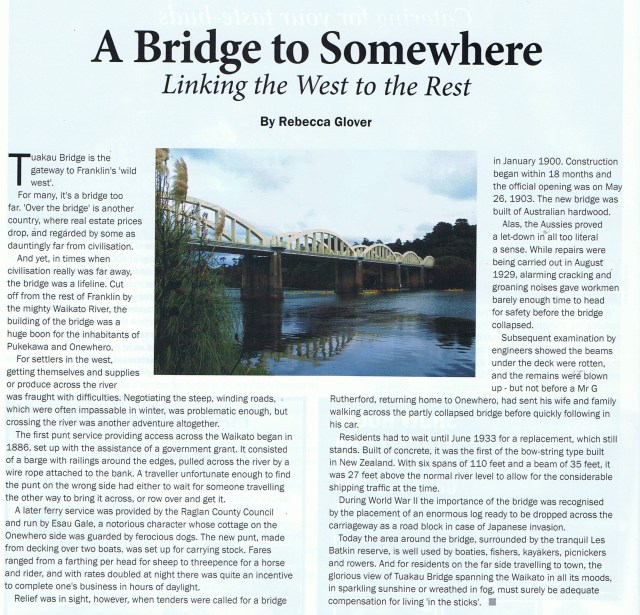 Tuakau Bridge Story 2016
